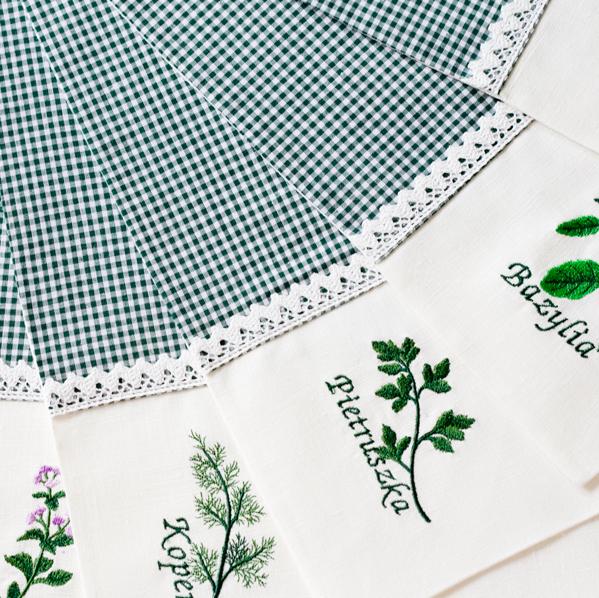 podkładki na stół zioła