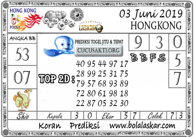 Prediksi Togel HONGKONG LASKAR4D 03 JUNI 2019