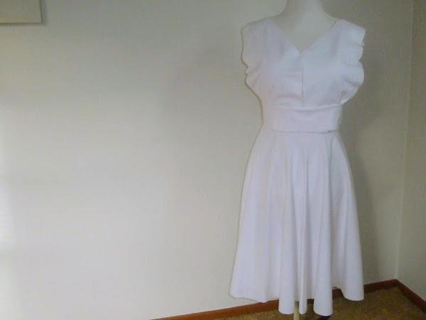 Wordless Wednesday Post - Retro Dress Progress