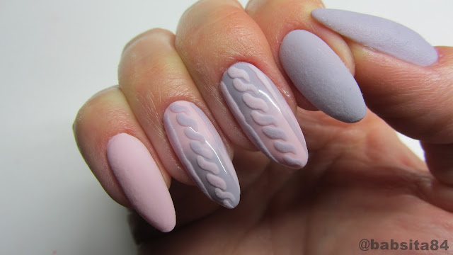 Baseveheinails Knitted Nails Sweterek Na Paznokciach Mat