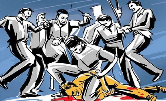 In Ranchi, the young man was caught stealing and badly beaten to death.