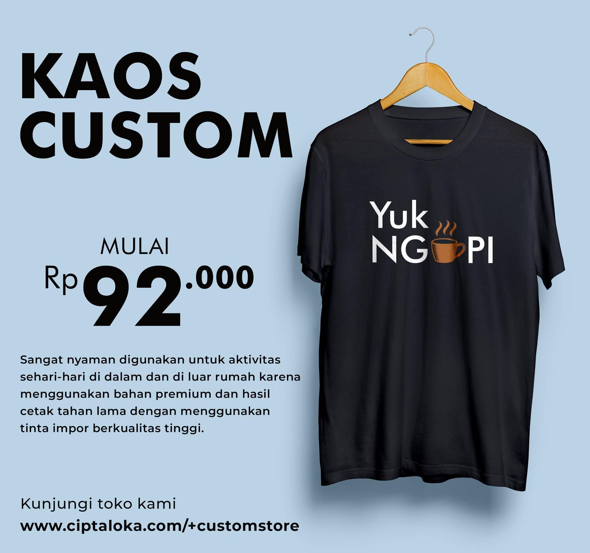 Kaos Custom Keren