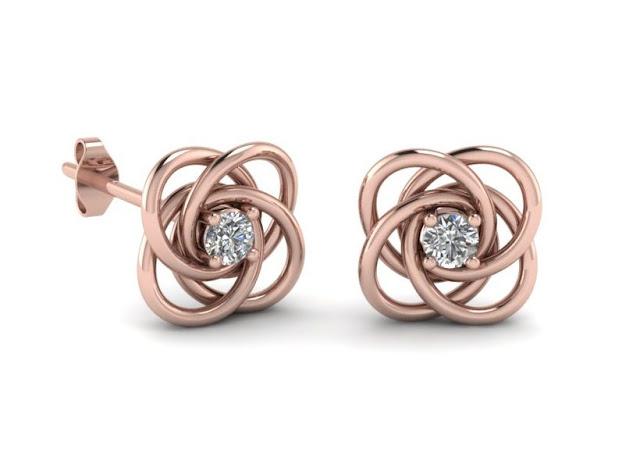 Rose Gold Celtic Earrings
