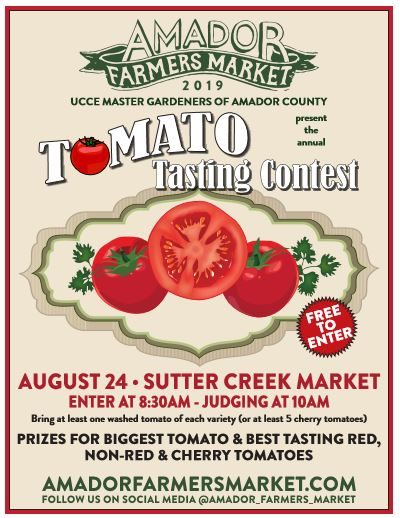 Master Gardeners of Amador County: Annual Tomato Tasting Contest - Sat Aug 24