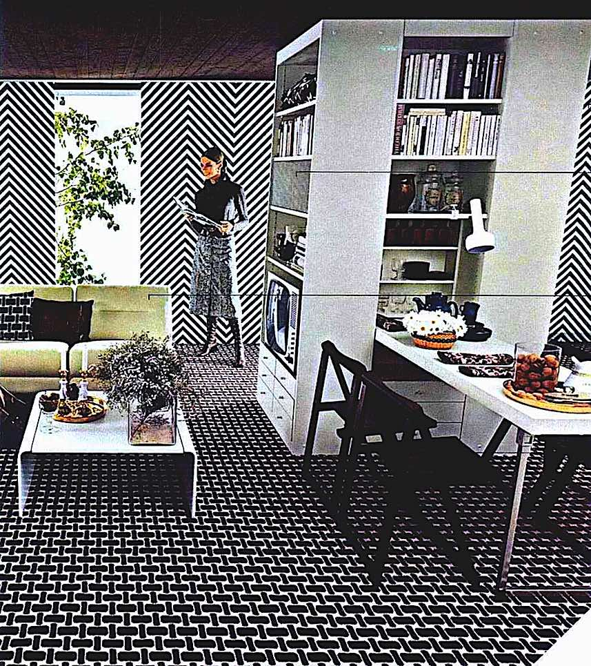 photograph of a 1971 home interior