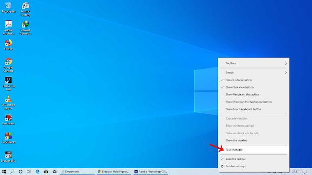 Masuk ke Pengaturan Task Manager Windows