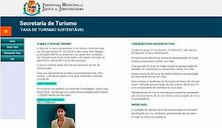 Taxa de Turismo em Jericoacoara - Ceará