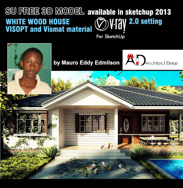 sketchup model - wood house Visopt & vray setting