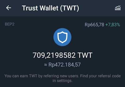 Reward dari Komunitas Trust Wallet