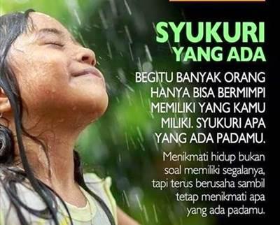 Bukan Nikmat Allah Yang Kurang, Tapi Rasa Syukur Kita Yang Kurang