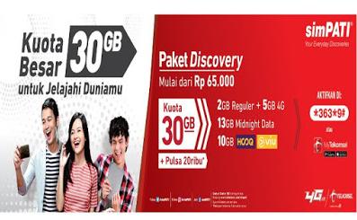Pembagian Kuota Telkomsel 30 GB
