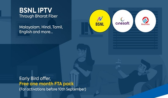 BSNL commercially launched IPTV service and started accepting online registration