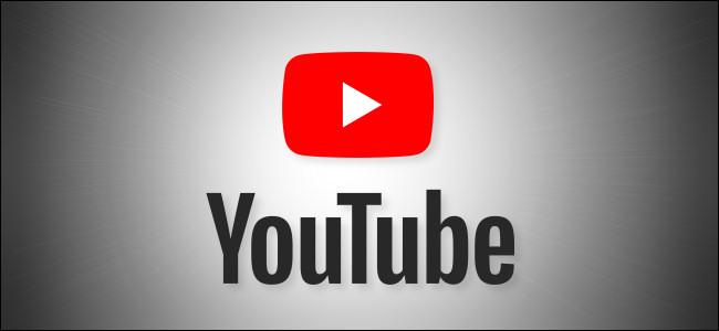 شعار YouTube على خلفية رمادية