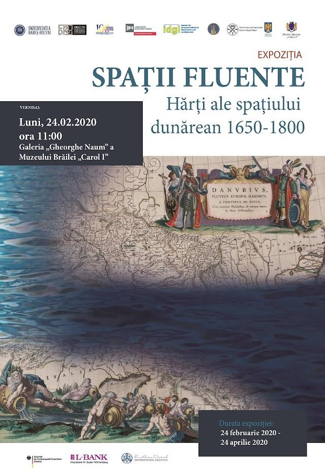 """Muzeul Brăilei """"Carol I"""" vă invită luni, 24 februarie 2020, ora 11, la vernisajul expoziției Spații fluente"""