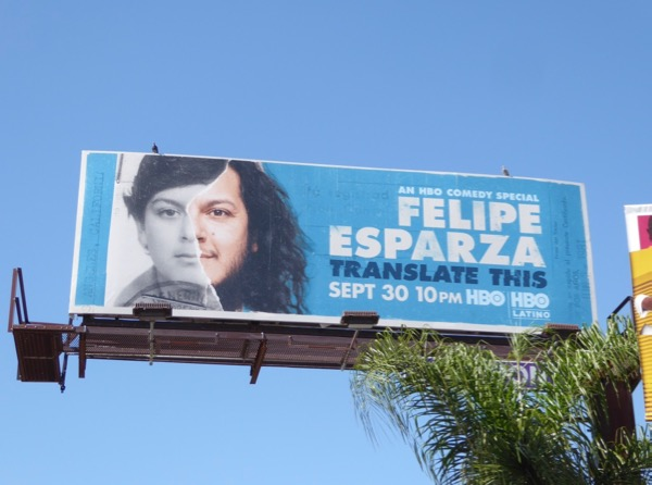 Felipe Esparza Translate This HBO billboard