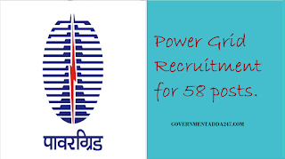 Power Grid Recruitment for 58 posts.