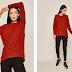 Pulover femei Medicine rosu din model tricot neted de iarna