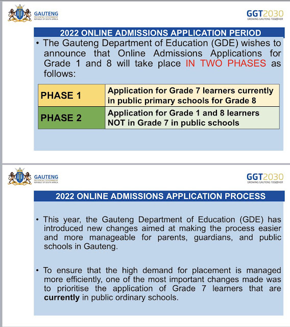 The 2022 applications for Grade 1