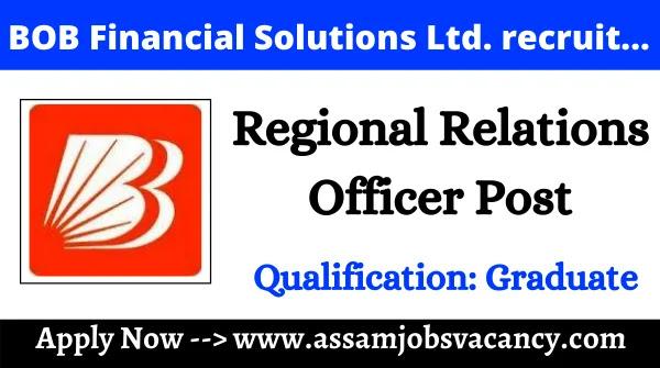 BOB Financial Solutions Ltd. Recruitment 2021