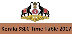 Kerala SSLC Time Table