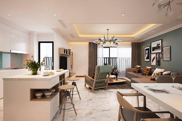 Phòng khách lớn tại Vincity