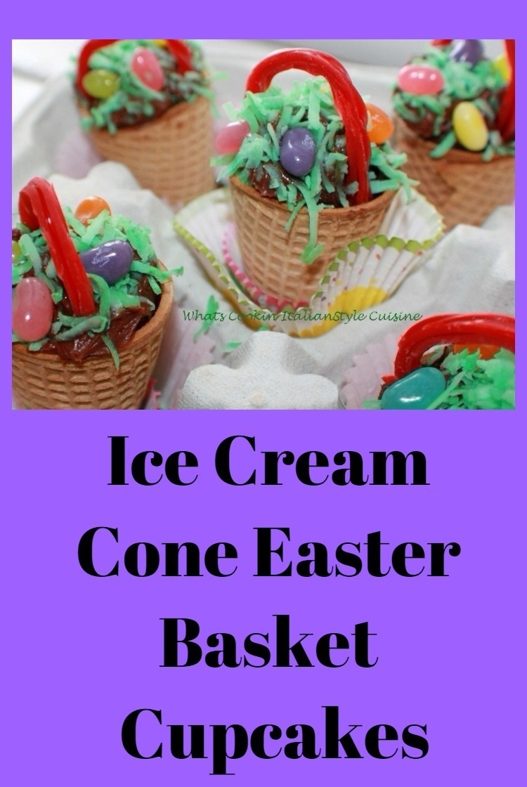 these are easter cupcakes made into an ice cream
