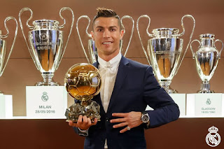 "The madridista striker ""Cristiano Ronaldo"" officially crowned 2016 Ballon d'Or champion"