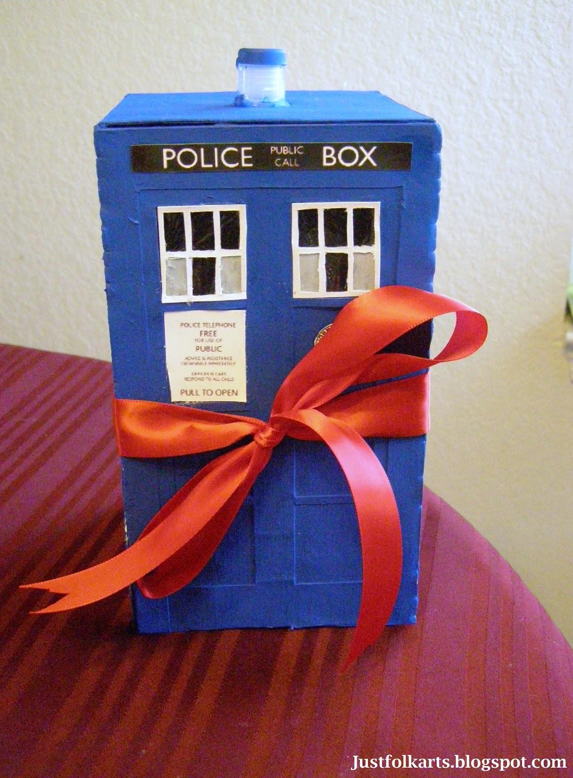 Just Folk Art Making A Tardis Gift Box