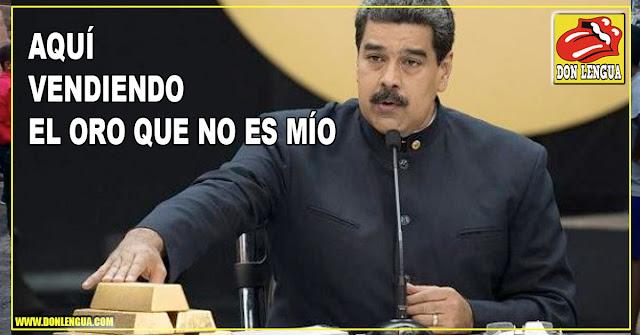 Maduro logró vender 14.000 kilos de Oro venezolano en Mayo