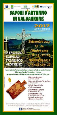 Sapori d'autunno in Valvarrone dal 17 settembre al 26 novembre Introzzo, Sueglio, Tremenico, Vestreno (LC)