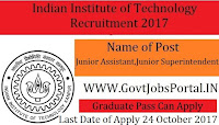 Indian Institute of Technology (IIT) Recruitment 2017 – 54 Non-Teaching