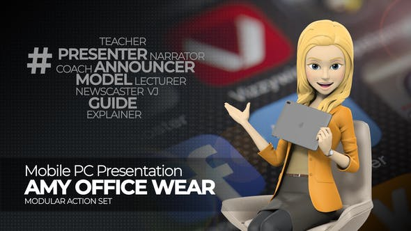 Videohive Presentation Mobile PC Amy Office Wear 26830490