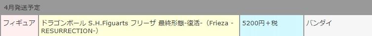 S.H.Figuarts Frieza -RESURRECTION- de Dragon Ball saldrá en Abril 2018 - Tamashii Nations