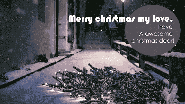 Christmas wishes for loved ones far away