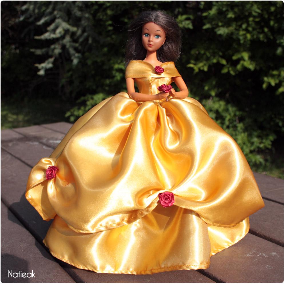 Robe de princesse pour barbie  La Belle et la Bête