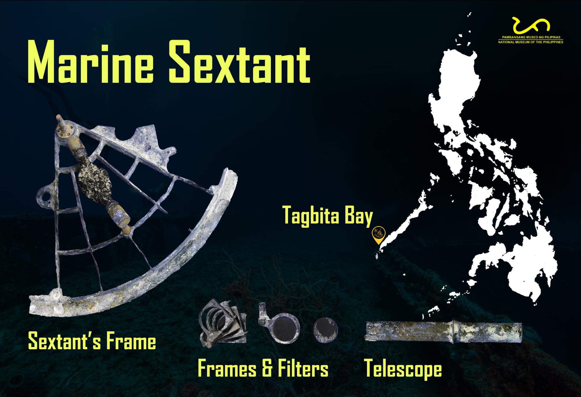 Vintage Sextant Found in Tagbita Shipwreck