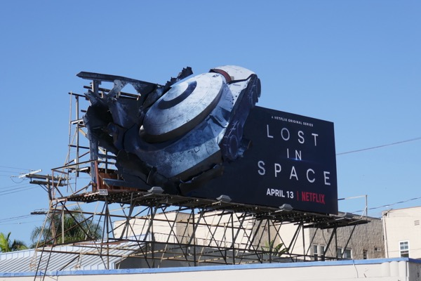 Lost in Space crashed 3D ship billboard