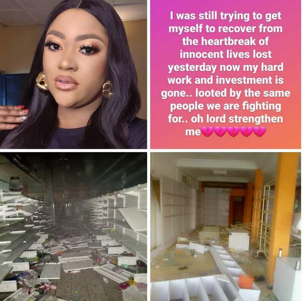 Hoodlums Loots Actress Uche Elendu's Shop (Photos) #Arewapublisize