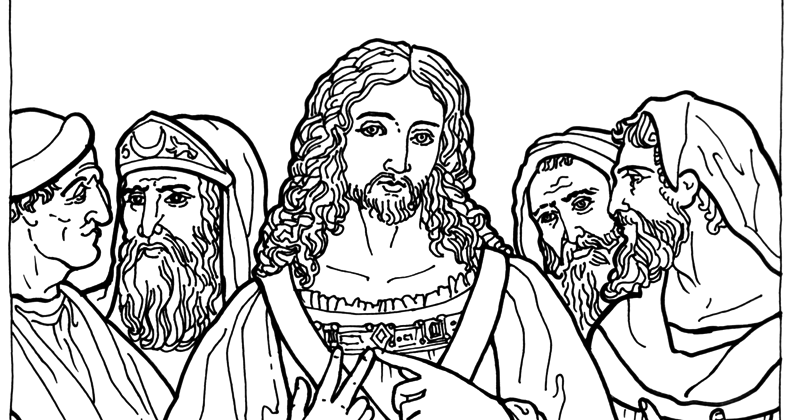 coloring pages of jesus teaching - photo#18