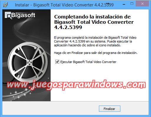 Bigasoft Total Video Converter v4.4.2.5399 Multilenguaje ESPAÑOL Convierte Archivos De Video y Audio a Otros Formatos 1