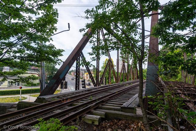 Portland, Maine USA June 2021 photo of St. John Street Union Branch railroad trestle. by Corey Templeton.