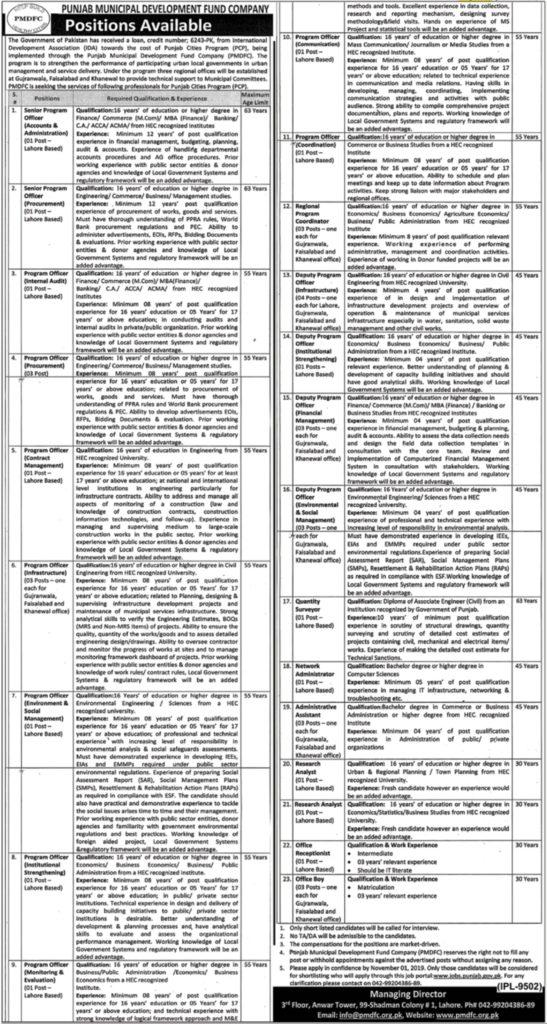 Punjab Municipal Development Fund Company