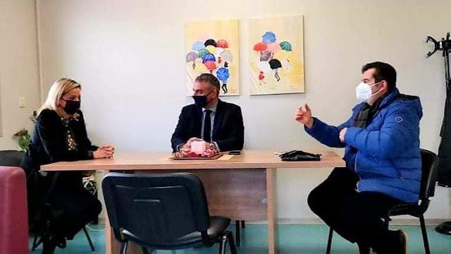 Επίσκεψη Μαλτέζου - Χρονά στο Νοσοκομείο Άργους