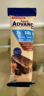 Elevation Advance Caramel Double Chocolate Crunch Light Meal Bar in individual packaging