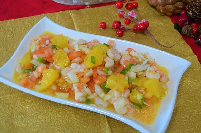Las delicias de Mayte, salpicón, salpicón de cigalas y gambas a la naranja, salpicón de marisco, salpicón de pescado, salpicón de marisco andaluz, salpicón de marisco congelado,