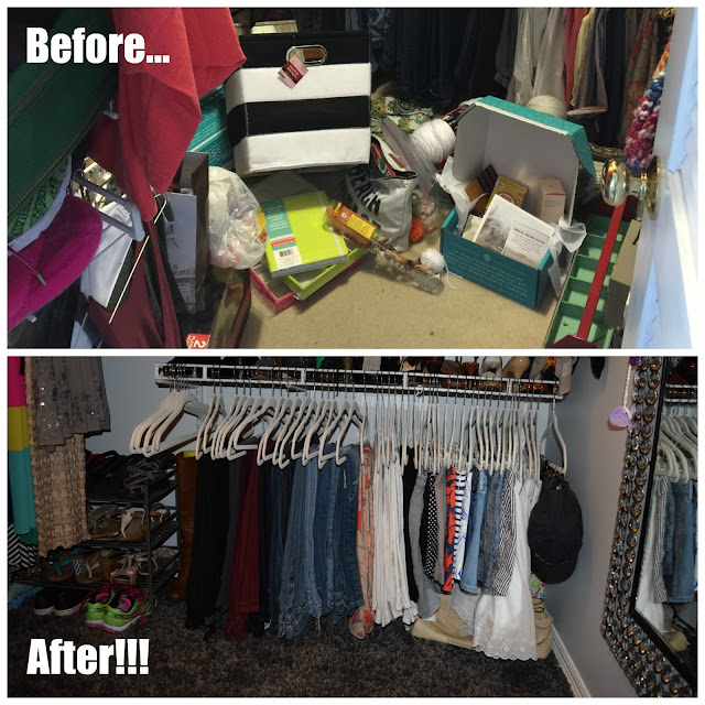 a closet makeover you have to see to believe - organized using the KonMari method