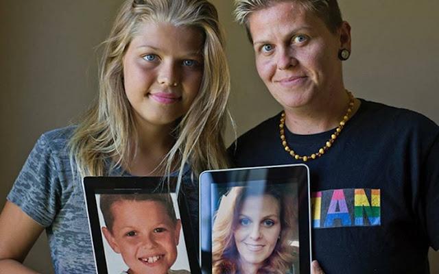 Μητέρα και γιος άλλαξαν φύλο και έγιναν πατέρας και Kόρη