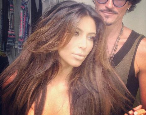 Kim kardashian blonde hair highlights criticism write