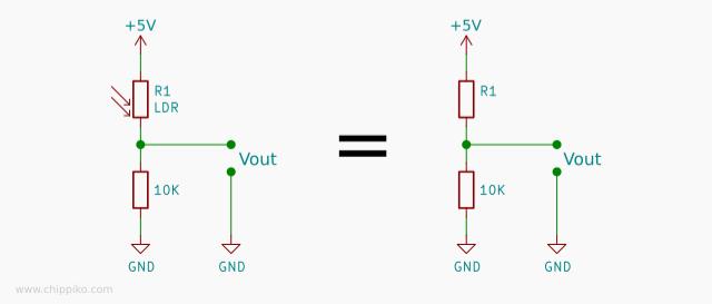 Basic of LDR Circuit For Light Sensor Using Arduino