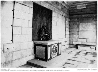 Ehrenhalle Soldatenfriedhof Belgrade - Namur, 1914-1918, Joseph Stoll war zuständig für die Soldatenfriedhöfe; Nachlass Joseph Stoll Bensheim, Stoll-Berberich 2016